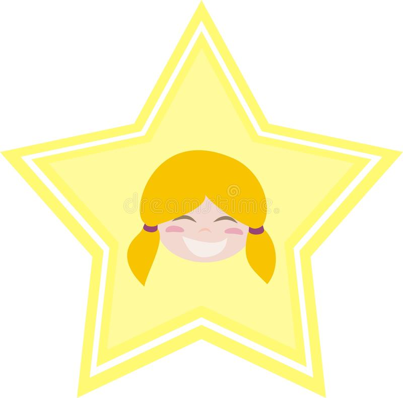 Download My Happy Little Blond Girl Is My Shining Star Stock Vector - Illustration: 19721016