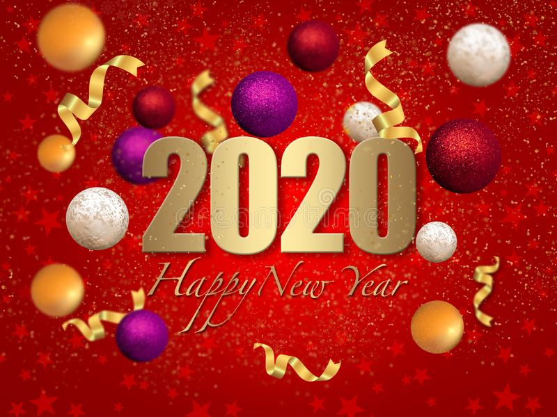 2020 My Happy New Year stock photography