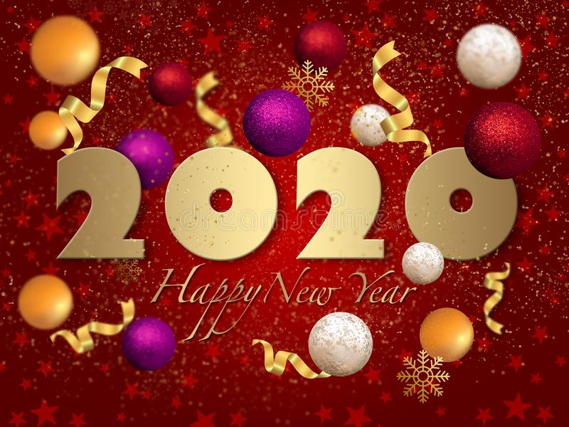 2020 My Happy New Year royalty free stock images
