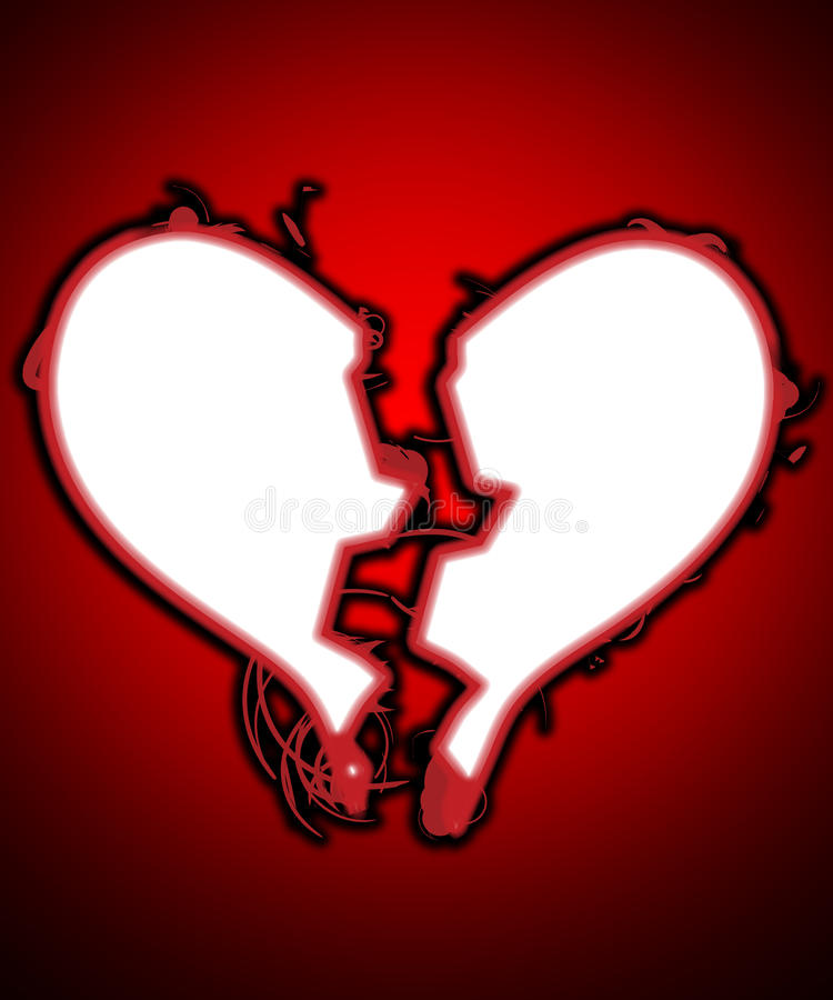 Download My Heart Is Broken stock illustration. Image of color - 22964768