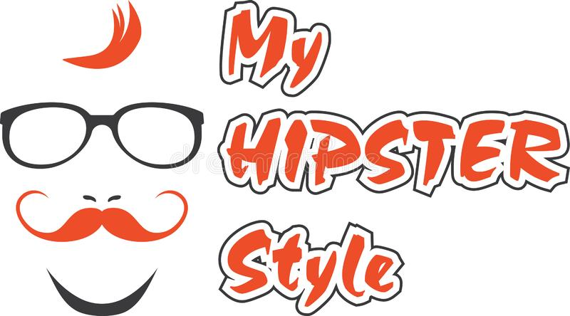 My hipster style. Sign for design royalty free stock photography