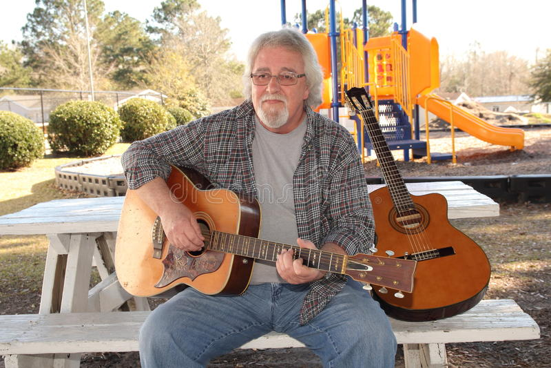 Download Man guitar stock image. Image of boomer, music, head - 29249661
