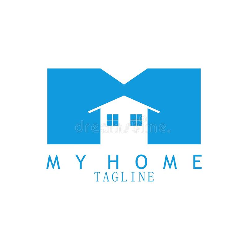 My home logo for real estate vector illustration