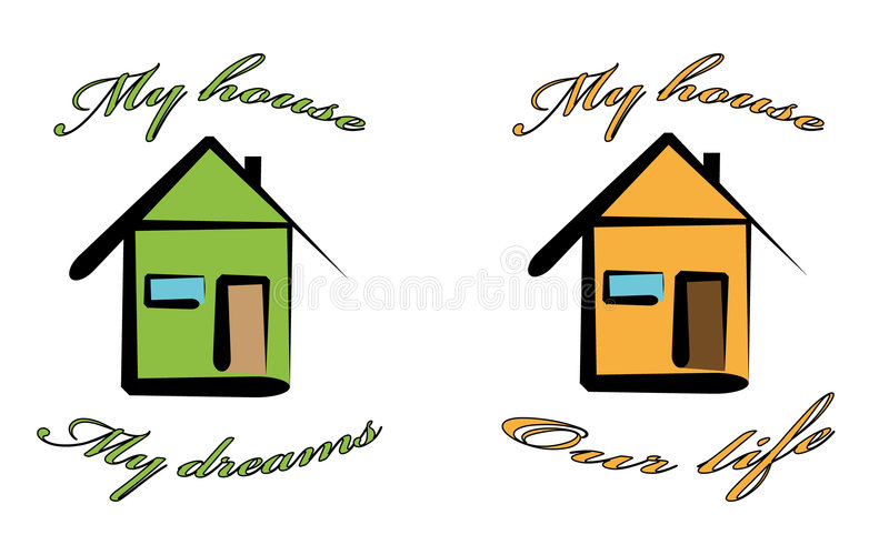 My house. Isolated home sign My house , vector illustration stock illustration