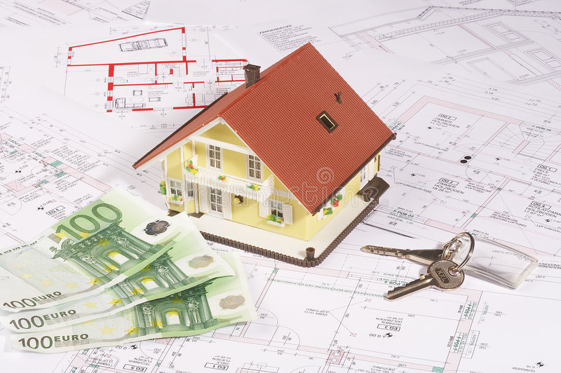 My house and money stock images