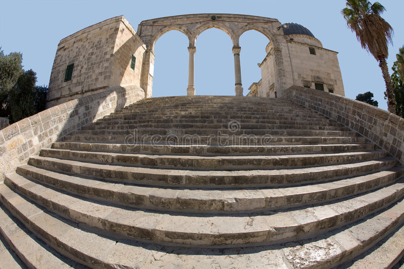 My Jerusalem. Stairs in the old city of Jerusalem royalty free stock photos