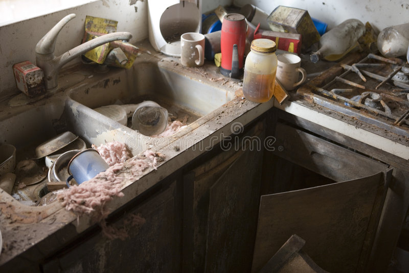 My Kitchen after Katrina, New Orlean, La, royalty free stock photos