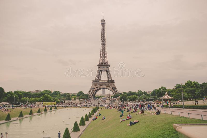 My last time in Paris, France. stock photo
