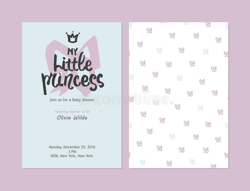 My Little Princess - Baby Shower Girl Invitations, Vector Templates ...