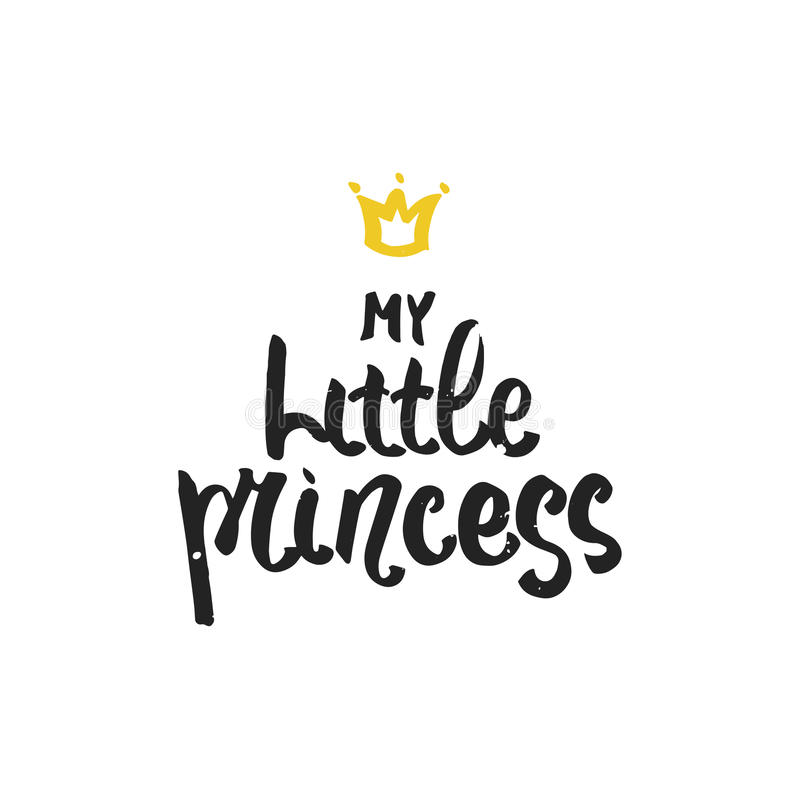 My little princess hand drawn brush lettering for print card download my little princess hand drawn brush lettering for print card invitation stopboris Choice Image