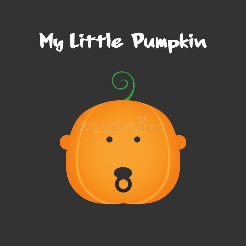 My little Pumpkin. Baby Face Pumpkin for Halloween celebration. Vector Design illustration. My little Pumpkin. Baby Face Pumpkin for Halloween celebration vector illustration