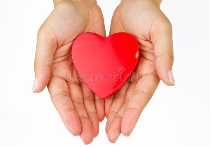 My love. My heart on the palm - love symbol stock photo