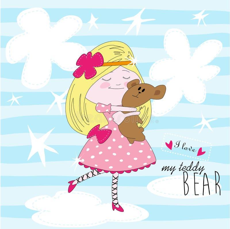 My lovely teddy bear – vector illustration royalty free illustration
