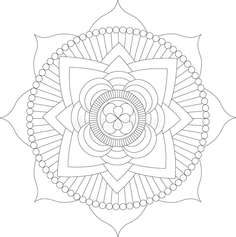 My Mandala 2 royalty free stock photography