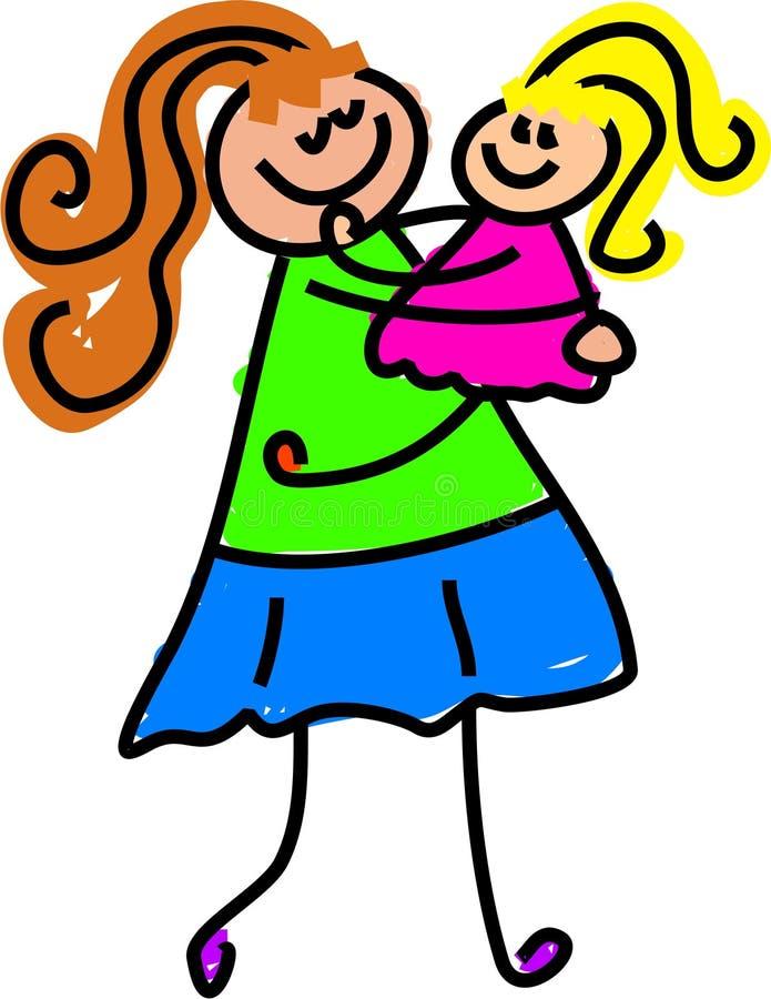 My mum royalty free illustration