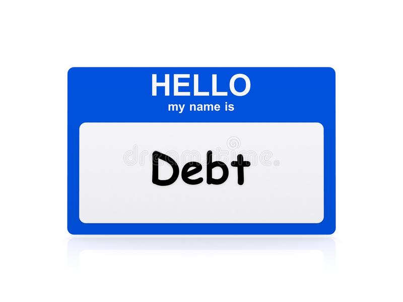 My name is debt stock image. Image of loans, purchase - 58066657