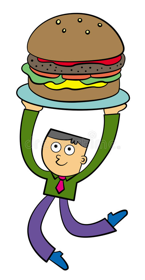 Download My new burger business stock illustration. Image of conceptual - 27718772