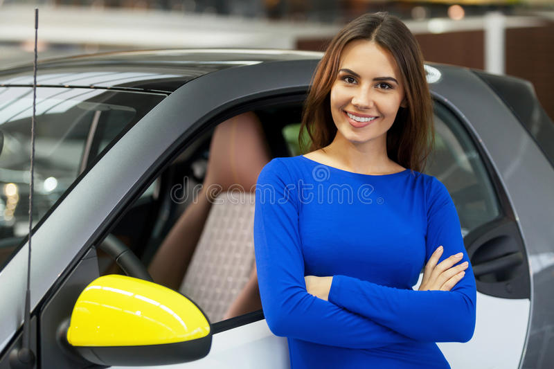 This is my new car. royalty free stock image