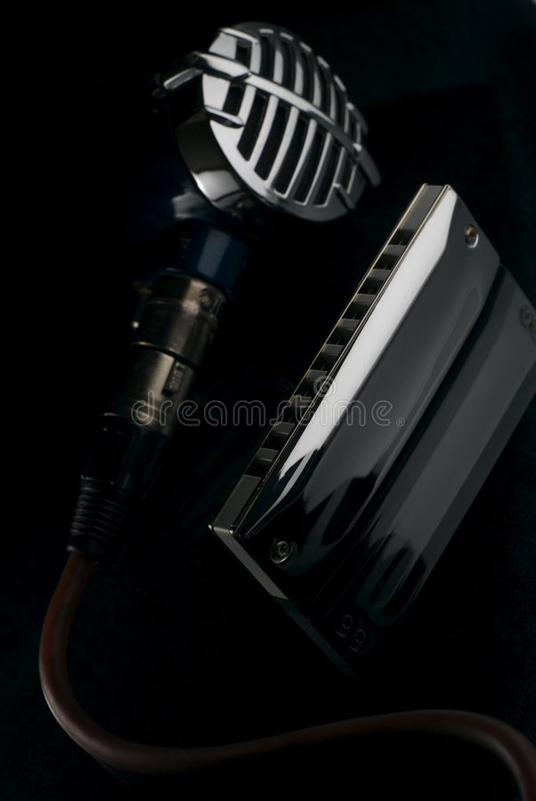 My old blues instruments stock image