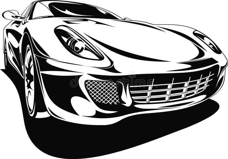 My original sport car design stock illustration