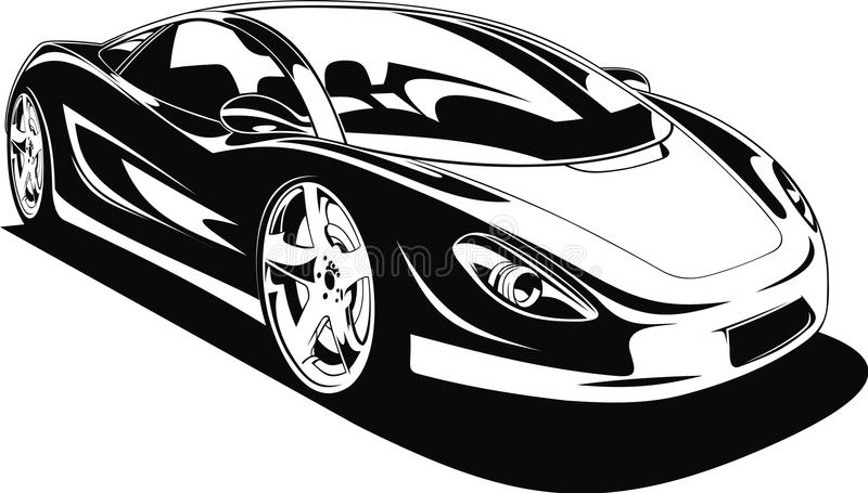 My original sport car design royalty free illustration