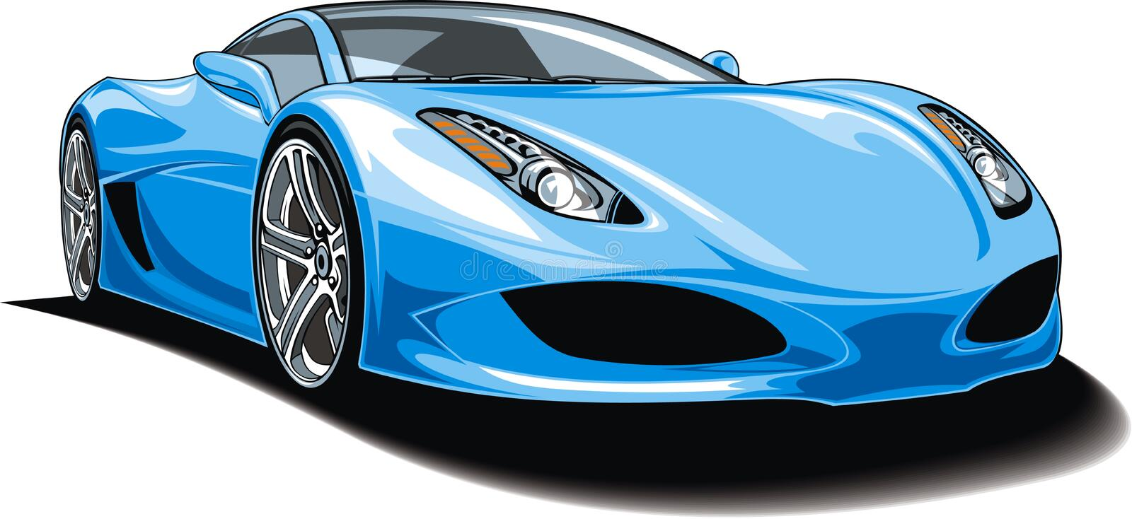 My original sport car design. Isolated on the white background stock illustration