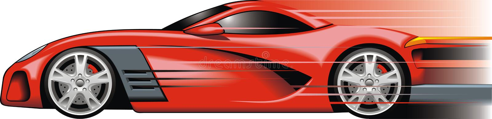 My original sport car design. In the red color royalty free illustration