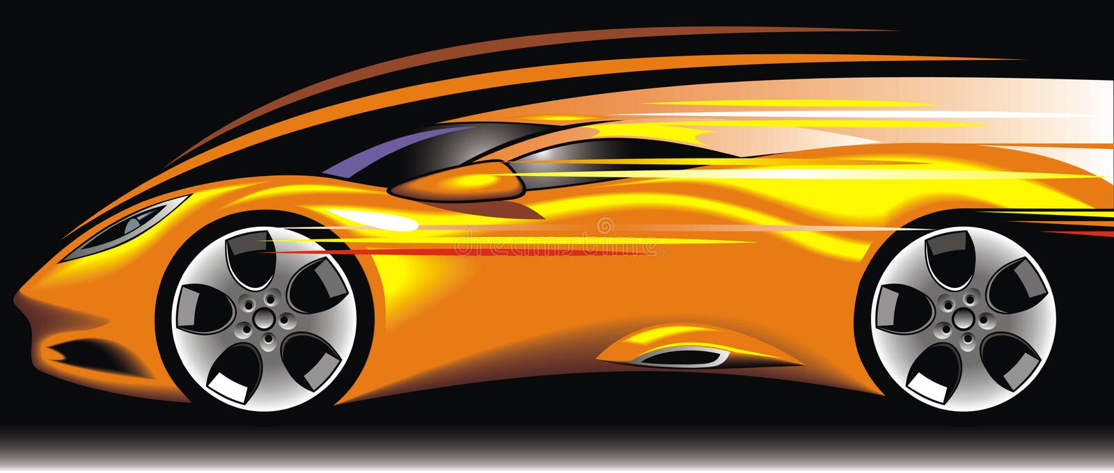 My original sport car design vector illustration