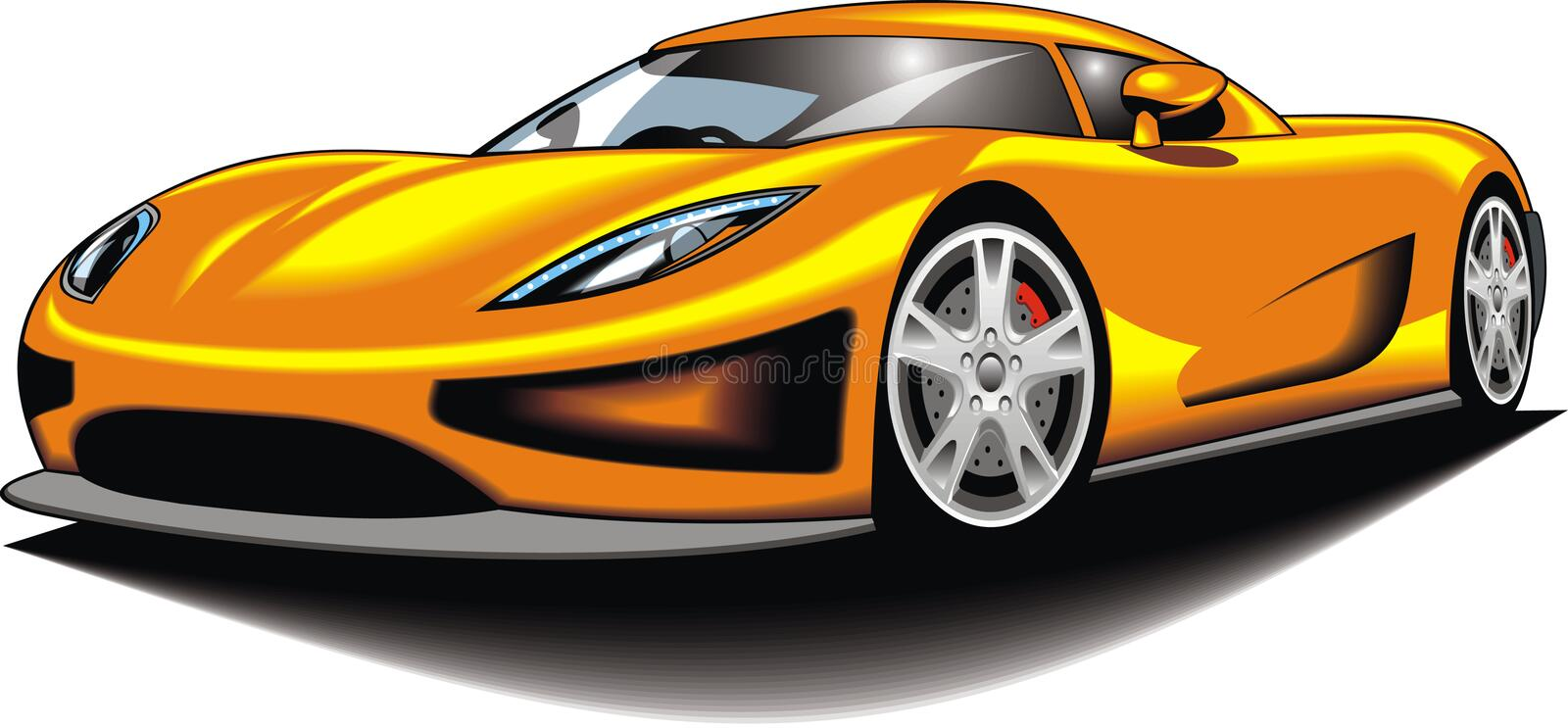 My original sport car (my design) in yellow color vector illustration