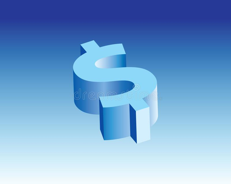US Dollar Icon & 3d sign stock image