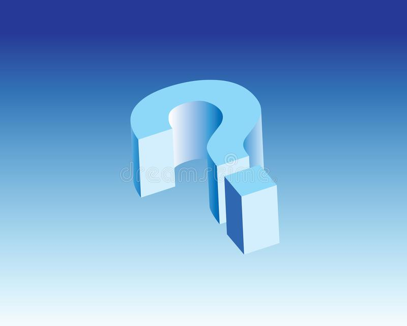 What Question Icon & 3d sign royalty free stock image
