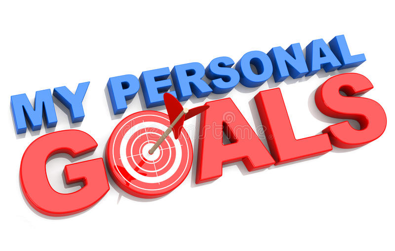 My Personal Goals Stock Illustration Image 48460691