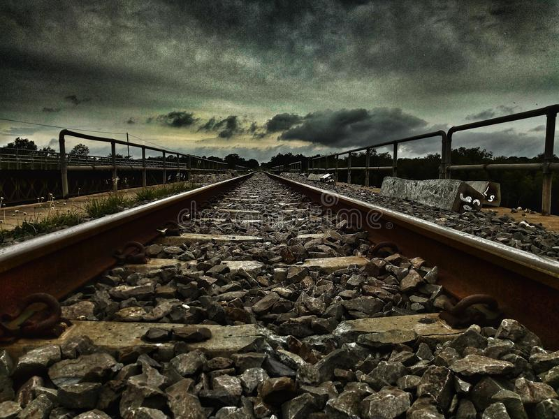 My photos of train tracks stock photo