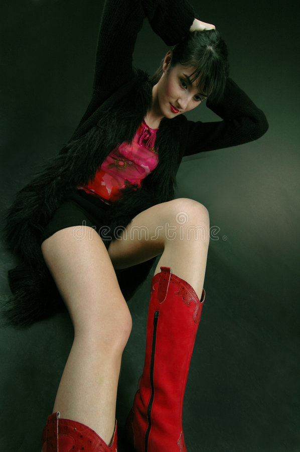 My red boots royalty free stock photography