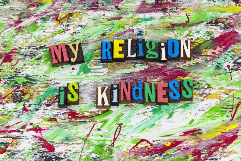 My religion is kindness helping hand. Help helping hand my religion kindness kind religious charity volunteer beggar begging need people letterpress type royalty free stock photos