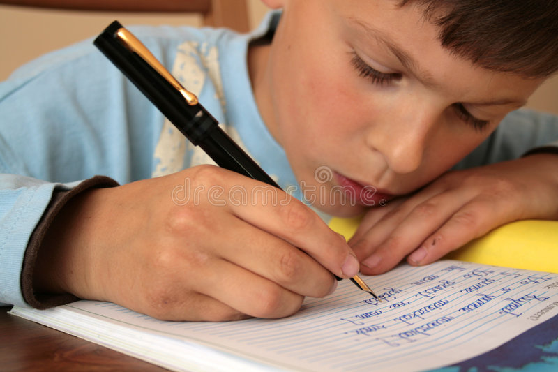 My school homework royalty free stock photography
