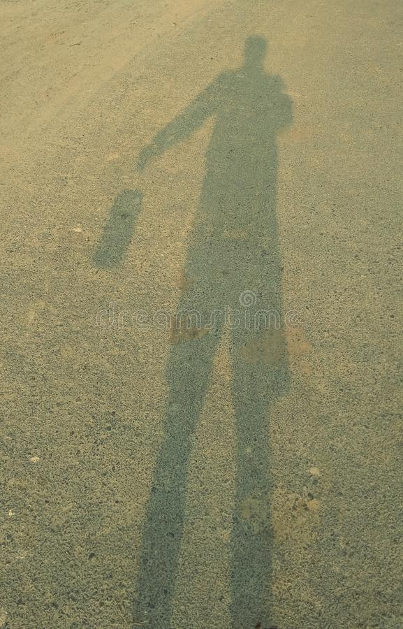 This is my shadow. My shadow and one hand shadow royalty free stock photography