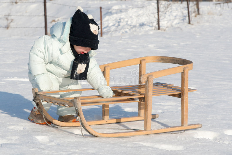 My sled royalty free stock image