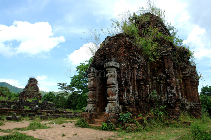 My Son. The ancient ruines of My Son in vietnam stock photography