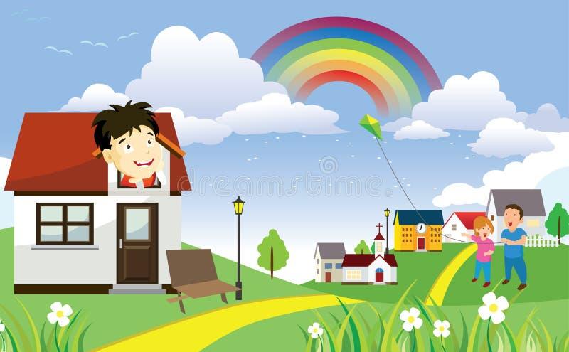 My Suburban Life stock illustration