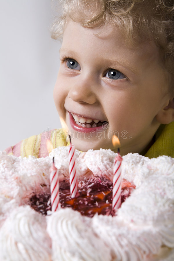 My third birthday stock photo