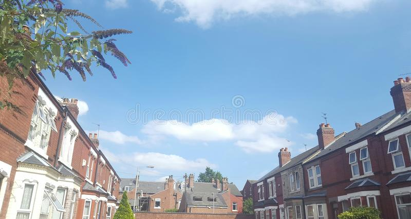 My town on hot bueatiful day royalty free stock photo
