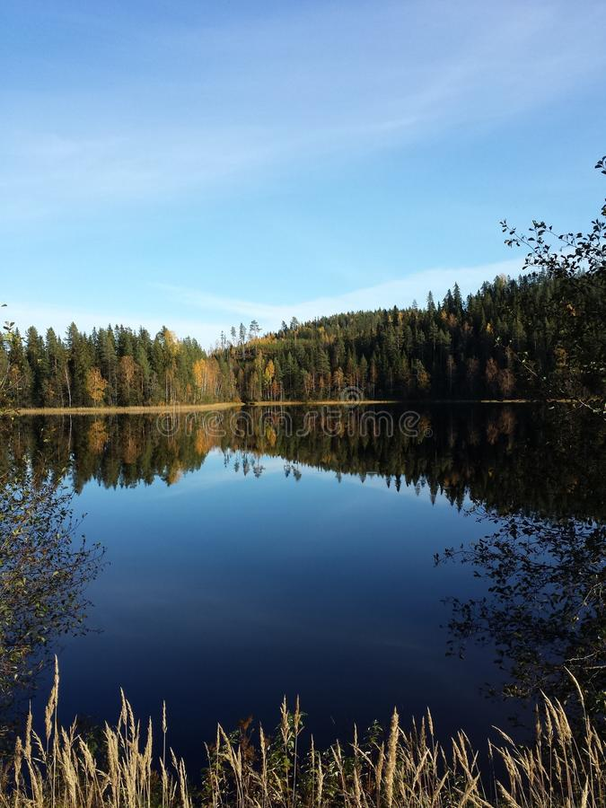 Lake in Finland stock photography