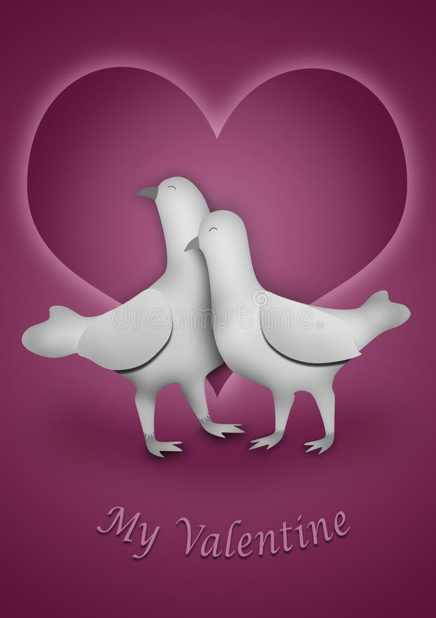 Download My Valentine stock illustration. Image of female, hugging - 17340920