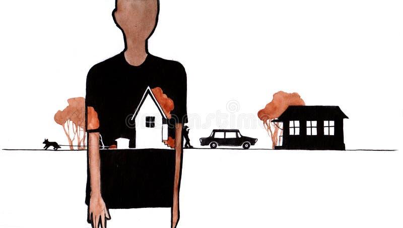 Download My village (series B) stock illustration. Image of courtyard - 14235499