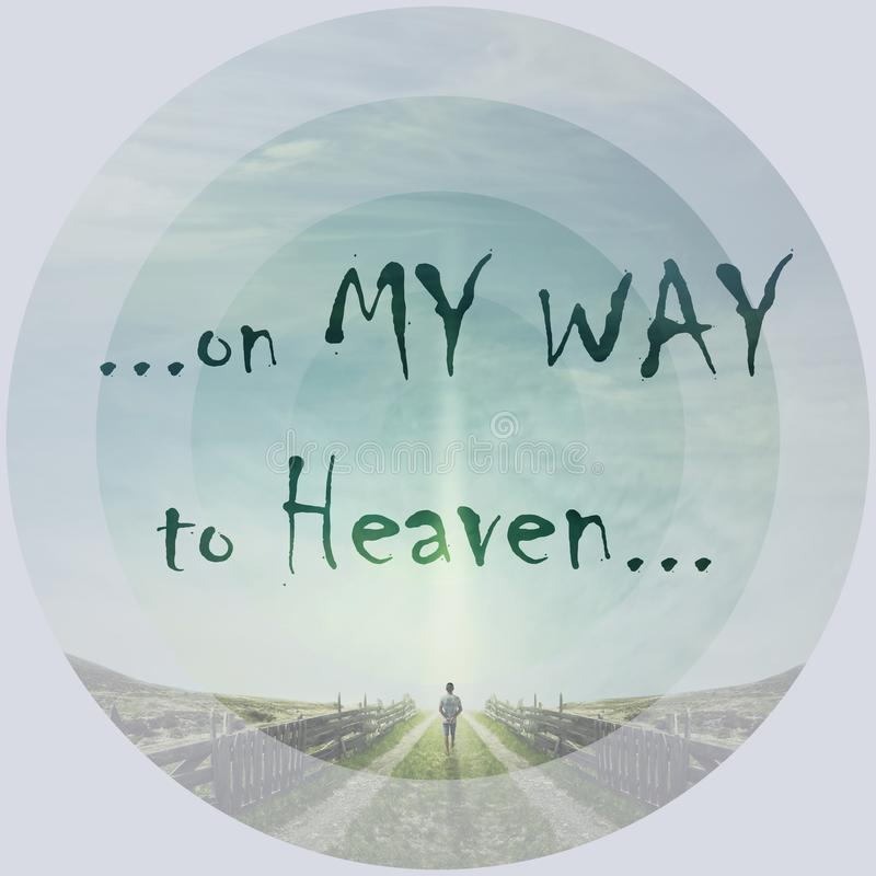 ...on my way to heaven... stock photo