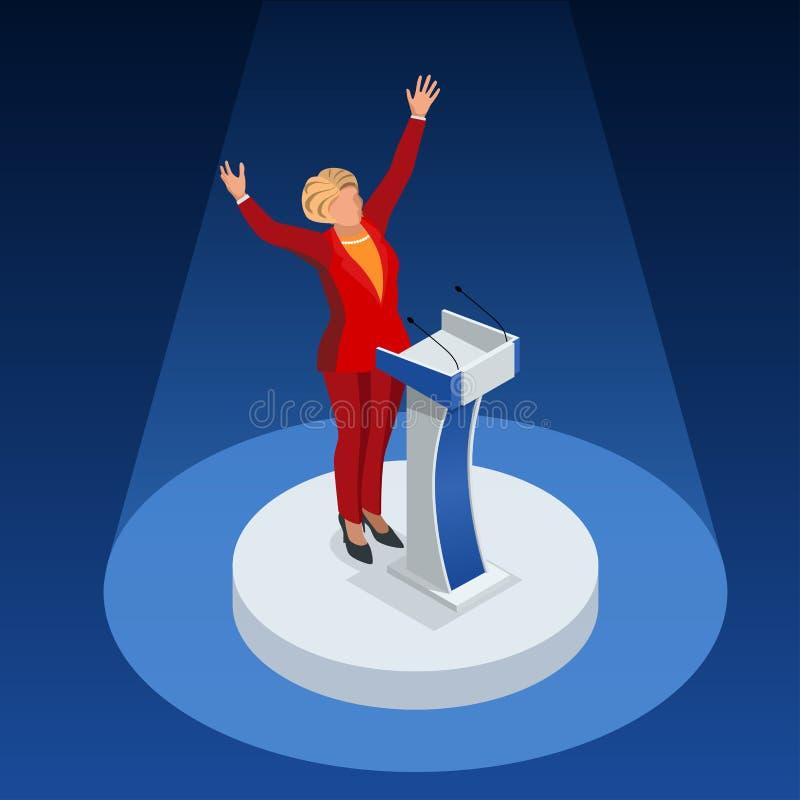 My wybory 2016 Demokrata partii republikańskiej kandydata infographic konwencja Usa symbolu debaty wektoru Prezydencka ikona royalty ilustracja