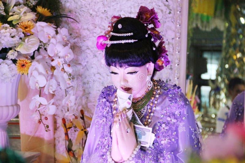 Mya Nan Nwe eller vinkel av viskning royaltyfri fotografi