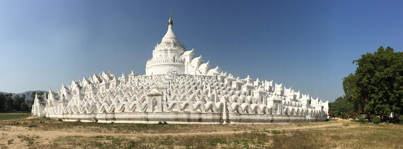 Mya Thein Dan pagoda w Mingun, Myanmar fotografia stock