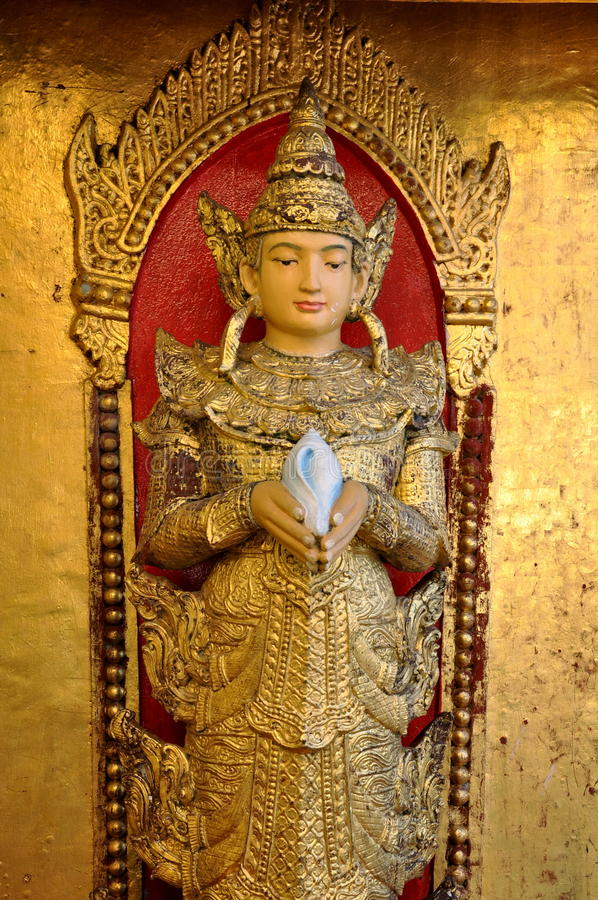 Myanmar Angel statue stock photography